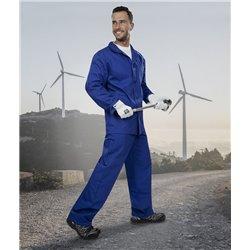 Souprava KLASIK kalhoty do pasu + blůza prodloužená na výšku 183-190 cm, modrá