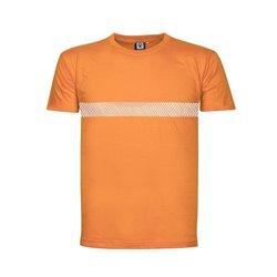 Tričko XAVER krátký rukáv, reflexní pruh, oranžové