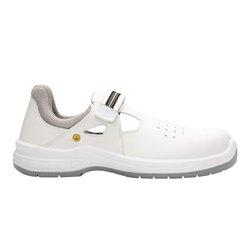 Obuv ARSAN WHITE S1 ESD, sandál s laminátovou špicí, bílá