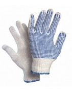Povrstvené rukavice, povrstvené nitrilem, s terčíky